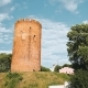 Kamyenyets, Brest Region, Belarus. Tower Of Kamyenyets In Sunny Summer Day With Green Grass - VideoHive Item for Sale