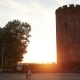Tower Of Kamyenyetsi in Sunset or Sunrise Time - VideoHive Item for Sale