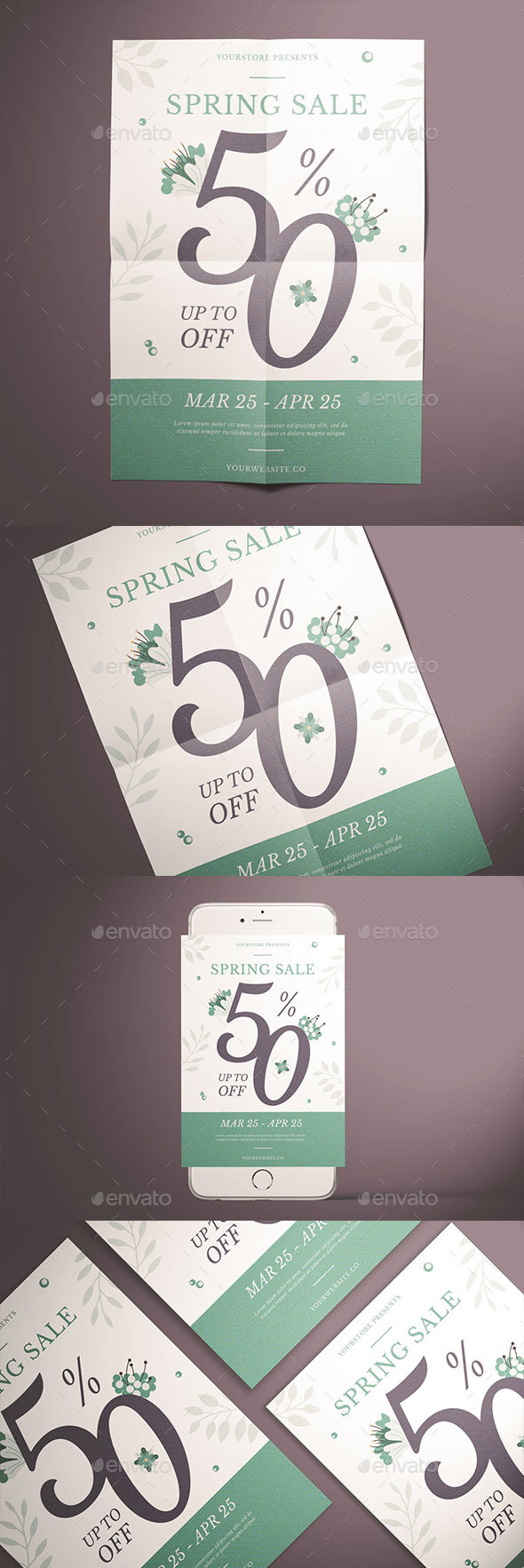 Spring Sale Flyer - Events Flyers