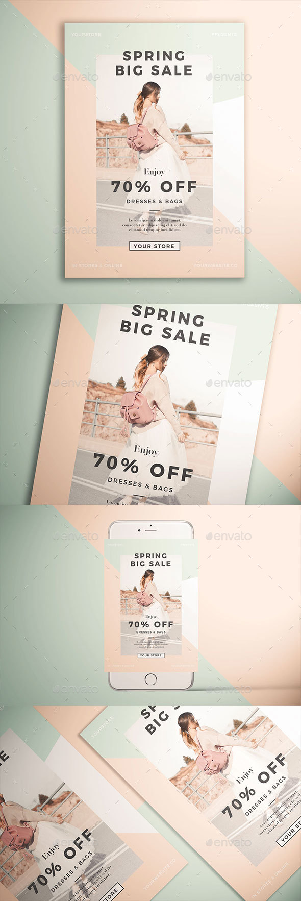 Spring Fashion Sale Flyer - Events Flyers
