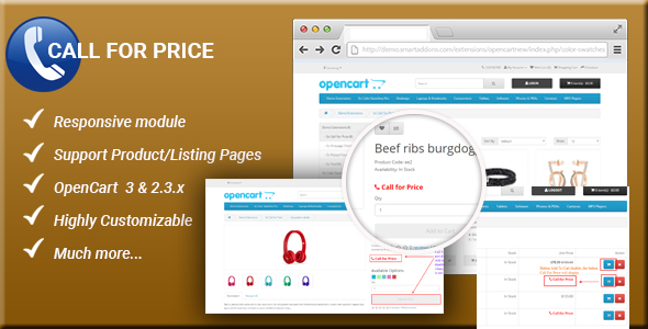 Call For Price - Responsive Enabled/Disabled Add to Cart button OpenCart 3 & 2.3.x Module - CodeCanyon Item for Sale