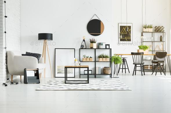 White modern living room - Stock Photo - Images