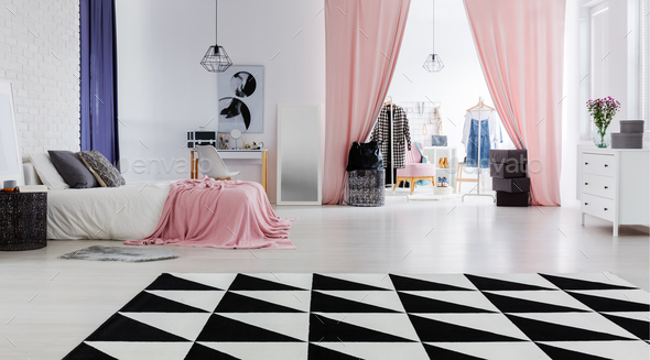 Perfect flat for fashion designer - Stock Photo - Images