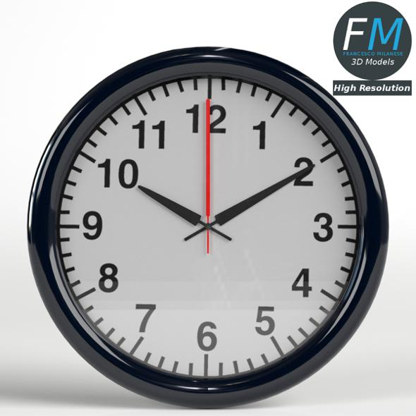 Office Wall Clock 1 - 3DOcean Item for Sale