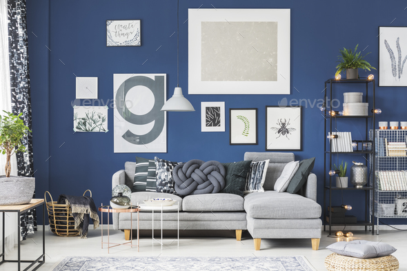 Posters in living room - Stock Photo - Images