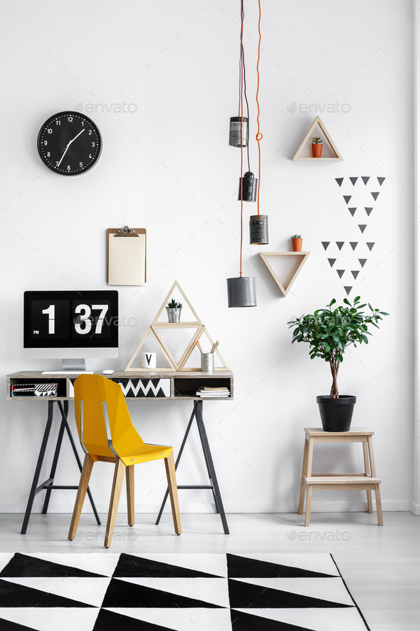 Triangle shaped shelves - Stock Photo - Images