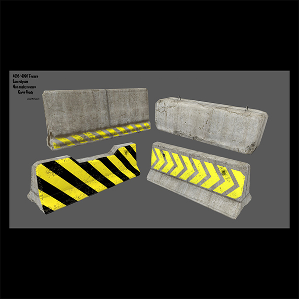barrier set 7 - 3DOcean Item for Sale
