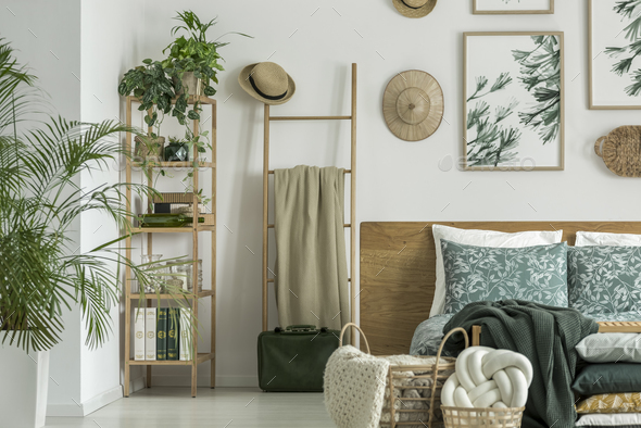Ladder with coverlet - Stock Photo - Images