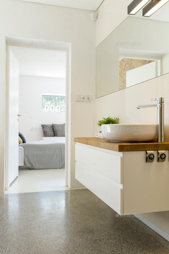 Elegant bathroom with sink - Stock Photo - Images
