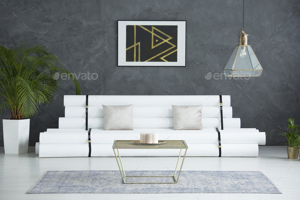 Poster with triangles - Stock Photo - Images