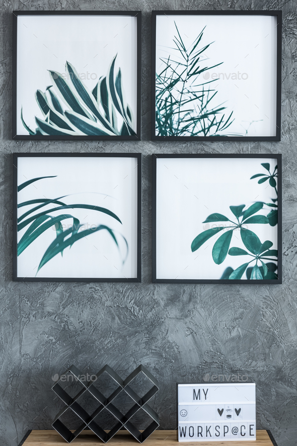 Paintings with leaves - Stock Photo - Images