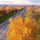 Aerial Footage Autumn Road - VideoHive Item for Sale