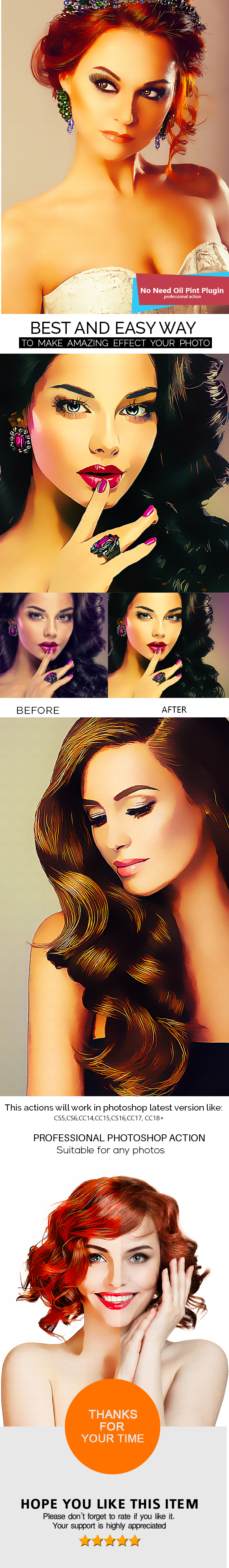 Smart Painting Photoshop Action - Photo Effects Actions
