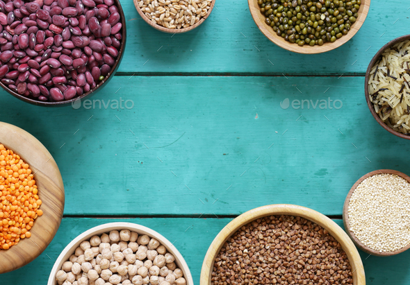 Various Cereals - Stock Photo - Images