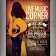 Live Music Corner Flyer / Poster - GraphicRiver Item for Sale