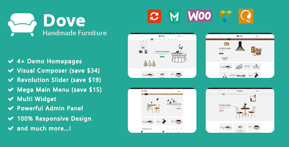 Dove - Handmade Furniture Responsive WooCommerce WordPress Theme - WooCommerce eCommerce