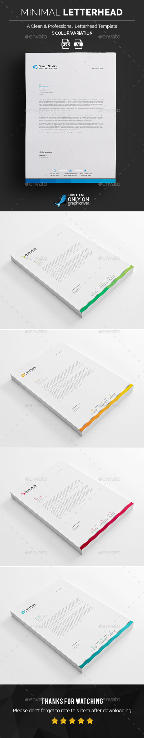 Letterhead template graphics designs templates spiritdancerdesigns Choice Image