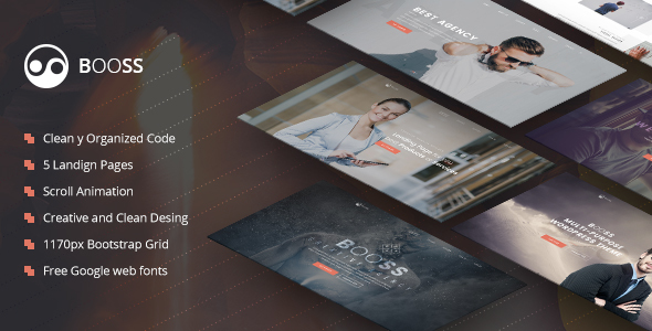 Booss | Creative Multipurpose Marketing Landing Page by TexTheme