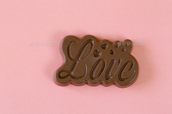 Chocolate Word Love  - Stock Photo - Images