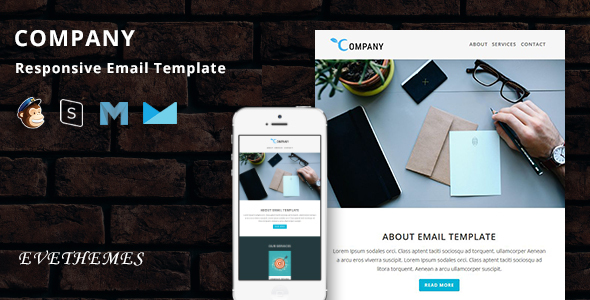 Company - Responsive Email Template by evethemes