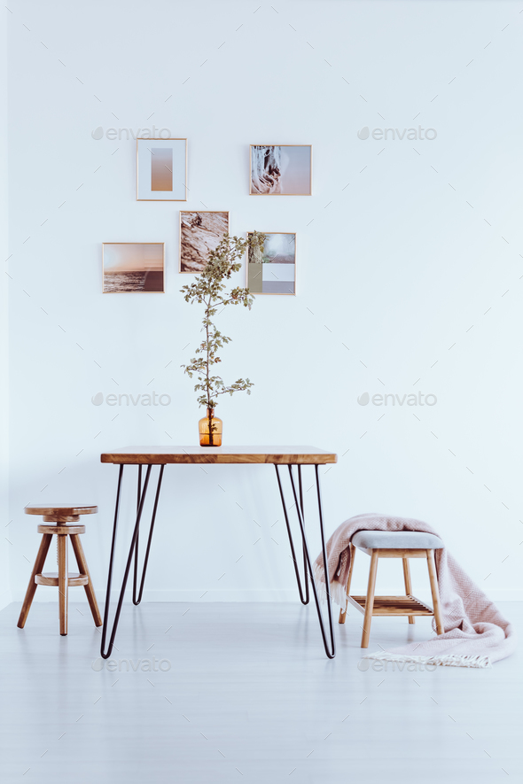 White dining room - Stock Photo - Images
