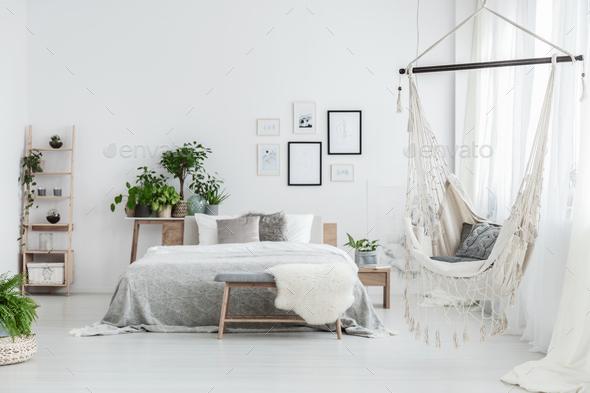 Brazilian chair in bedroom - Stock Photo - Images