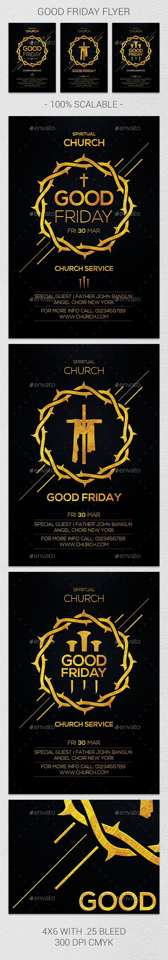 Good Friday Flyer - Church Flyers