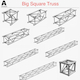 Big Square Truss (Collection 10 Modular Pieces) - 3DOcean Item for Sale