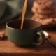 Coffee Is Poured Into a Green Cup - VideoHive Item for Sale