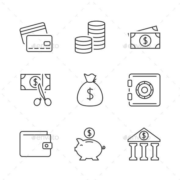 Finance Outline Icon - Business Icons