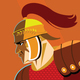 Warrior versus warrior. Opposition of Roman soldiers to each other - GraphicRiver Item for Sale