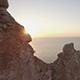 Sunset Reveal Through Cliffs in Ibiza, Spain, Mediterranean - VideoHive Item for Sale