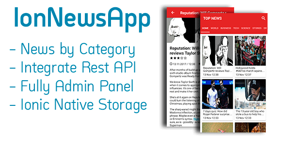 IonNewsApp - Full News App and Managment System - CodeCanyon Item for Sale