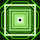 Green Cubic Tunnel Loop - VideoHive Item for Sale