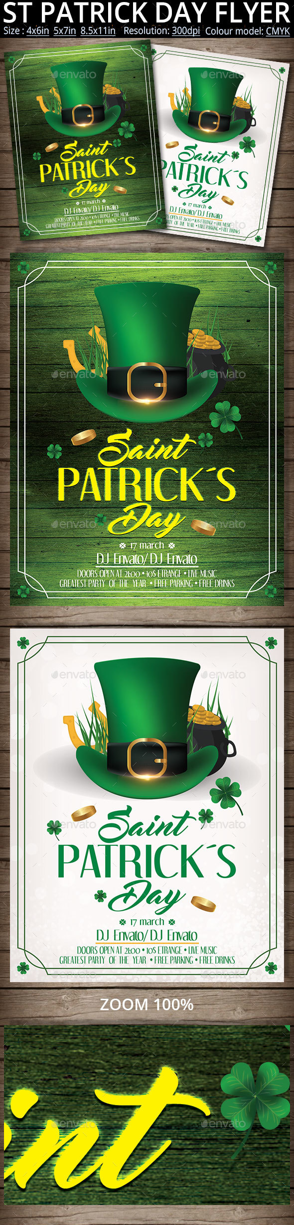 St Patrick Day Flyer And Poster Template - Events Flyers