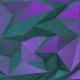 Turquoise-violet Beauty Low Poly Triangle Background - VideoHive Item for Sale