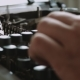 Writer Typing with Retro Writing Machine - VideoHive Item for Sale