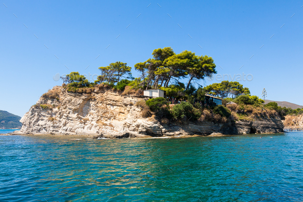 Cameo Island in Zakynthos (Zante) island, in Greece - Stock Photo - Images