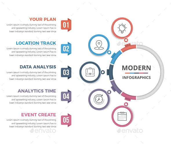 Modern Circle Infographics - Infographics