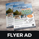Travel Agency Flyer Ad Design v2 - GraphicRiver Item for Sale