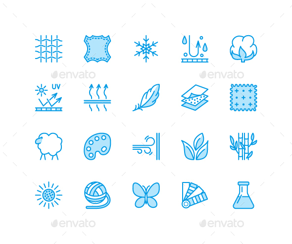 Fabric Features Icons - Abstract Icons