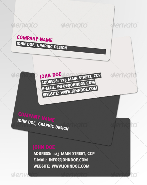 ESSENTIAL business card - Corporate Business Cards