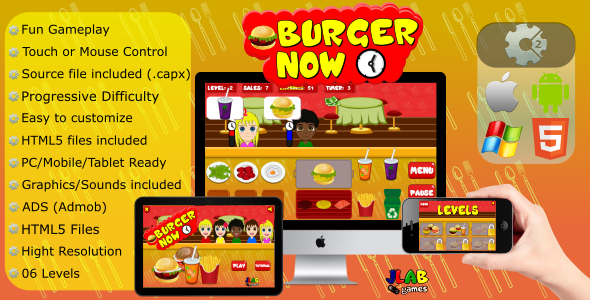Burger Now - CAPX (Mobile and HTML5) - CodeCanyon Item for Sale