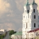 Grodno, Belarus. Grodno Regional Drama Theatre, St. Francis Xavier Cathedral And Traffic - VideoHive Item for Sale