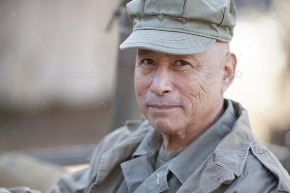 veteran in uniform - Stock Photo - Images