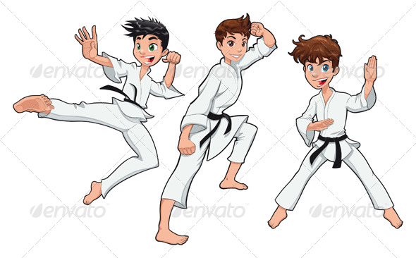 Young boy, Karate Player - Sports/Activity Conceptual