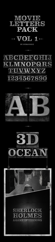 Movie Alphabet Pack | Vol.1 - 3DOcean Item for Sale