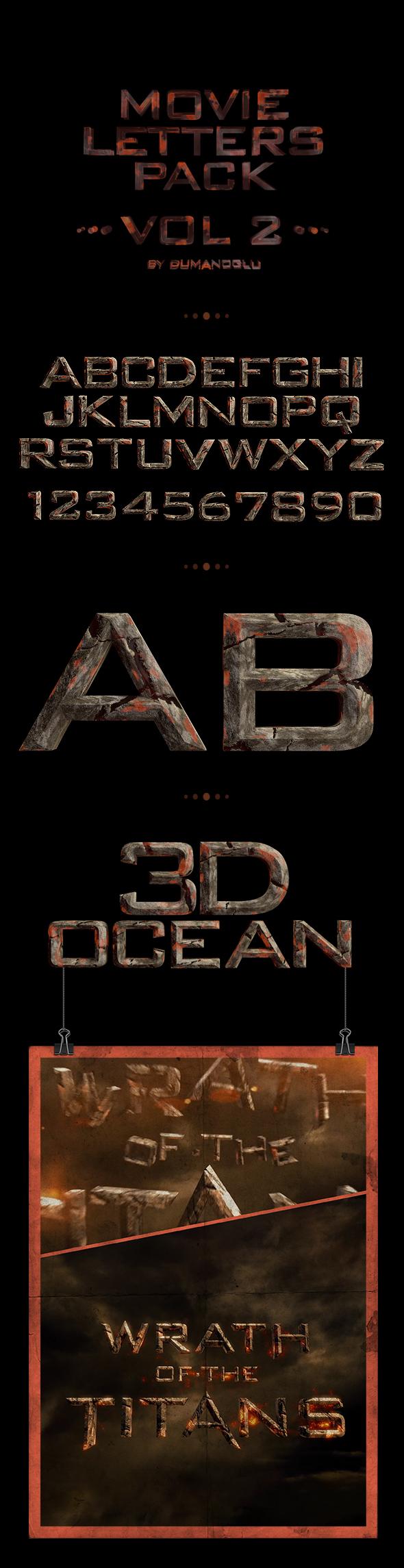 Movie Alphabet Pack | Vol.2 - 3DOcean Item for Sale