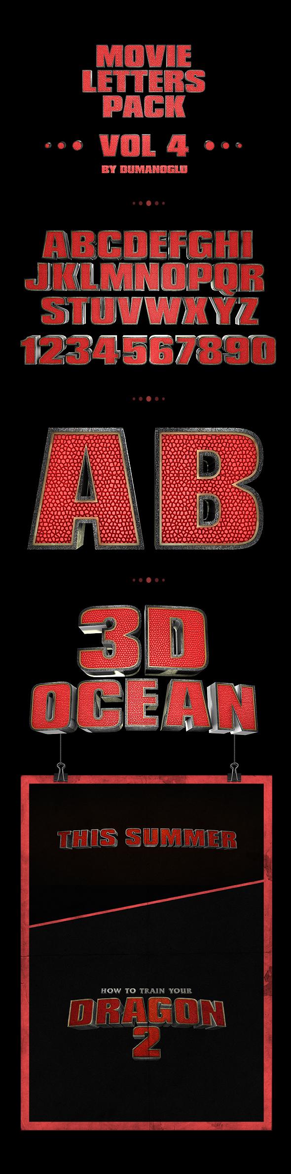 Dragon  | Alphabet Pack - 3DOcean Item for Sale