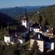 Flying Over Church in Spania Dolina, Slovakia - VideoHive Item for Sale